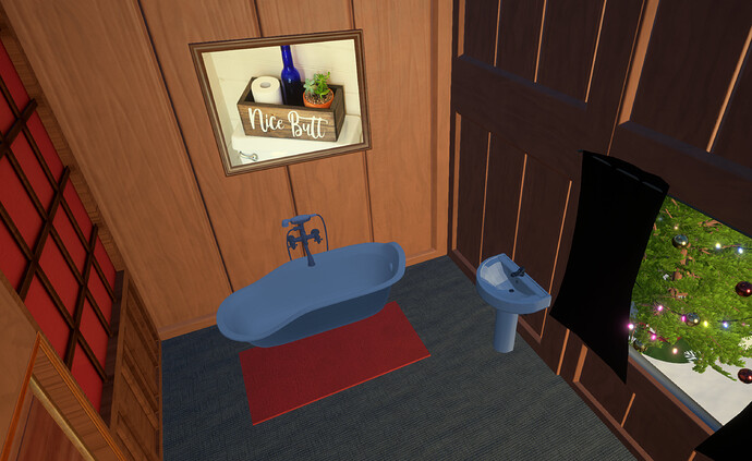 Winter Cabin Island Getaway Bath