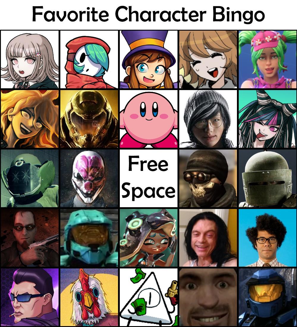 Favourite Character Bingo Off Topic Pixeltail Games Creators