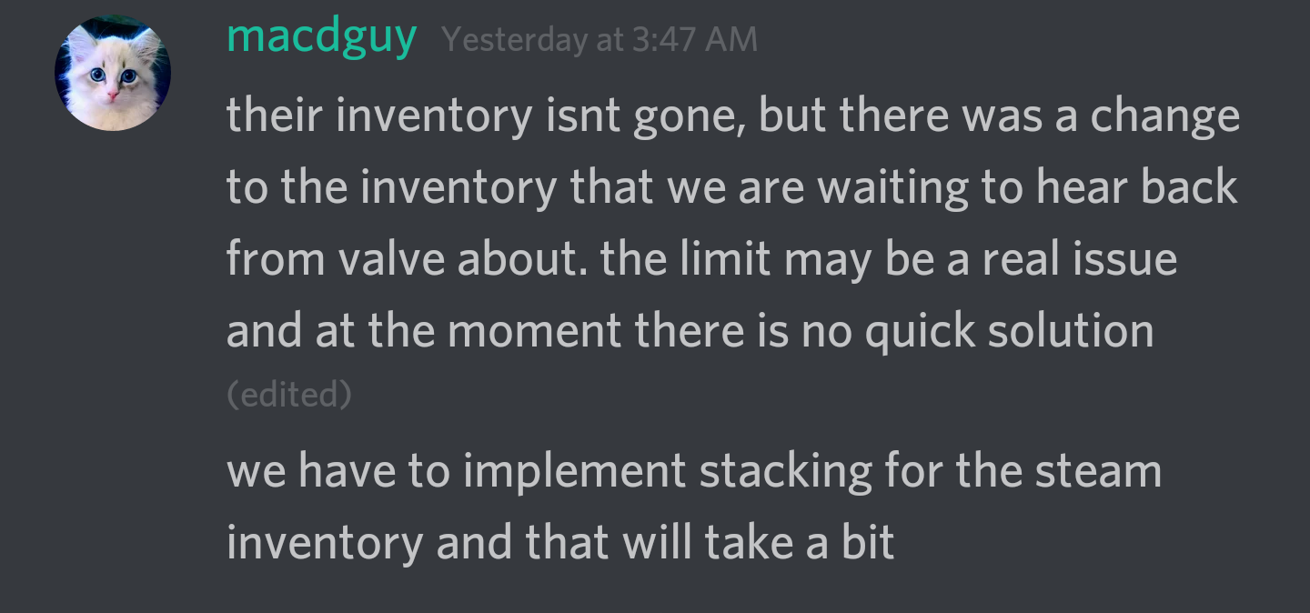 Can I get some items removed from my inventory? - Support